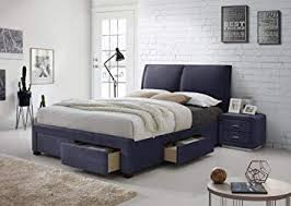 modern bedroom furniture with storage. Unique Storage Montana 4 Drawer Storage Fabric Bed Upholstered King Size Light Dark Grey  Modern Italian Style Designer Throughout Bedroom Furniture With M