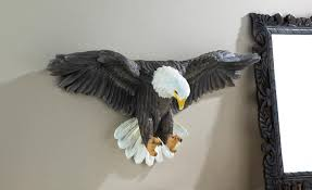 patriotic soaring bald eagle wall decoration realistic details 1 of 2free