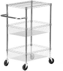featuring a heavy duty 11 gauge steel wire construction this honey can do 3 shelf urban chrome storage cart has a 400 lb capacity to easily handle your