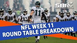 free pick eagles vs cowboys nfl week 11 predictions sbr roundtable