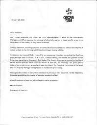 Memo To Board Of Directors parking Grove Isle 25
