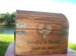wedding card box rustic wooden advice gift locking chest lockable diy b