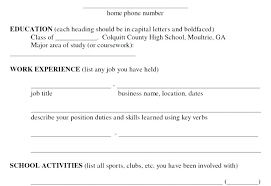 Resume Fill Out Canadianlevitra Com