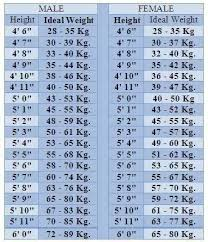 Weight Chart In Kg According To Height How Much Should I Weigh If My Height Is 58 Quora