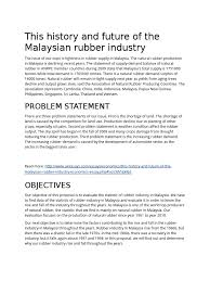 this history and future of the n rubber industry