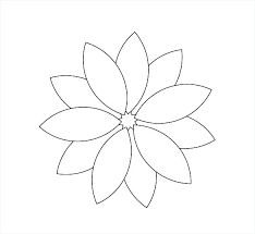 Paper Flower Templates Free Download Large Flower Template Large Flower Petal Template Printable
