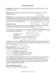 Sample Business Proposal Example Proposal Form Business Sales
