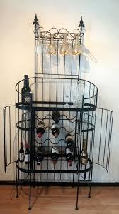 Wine rack liquor cabinet Storage Large Wrought Iron Wine Rack Liquor Cabinet Auctions Catawiki Large Wrought Iron Wine Rack Liquor Cabinet Catawiki