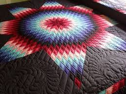 271 best 45* Diamond Quilts (Lonestars) images on Pinterest | Star ... & Lone Star Quilt Pattern over a black background Adamdwight.com