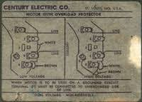 century 2 hp electric motor wiring diagram images ac motor speed picture century ac motor wiring