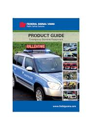 Federal Signal Solaris Light Bar Product Guide