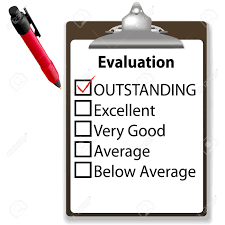 An Evaluation For Job Performance Red Check Mark In The Outstanding