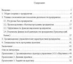 преддипломная работа отчет по практике