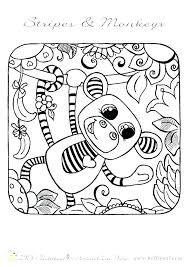 Monkey Color Page Monkey Coloring Pages To Print Monkey Coloring