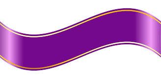 Purple Ribbon Banner Picture Transparent Stock Clip Art Banner Purple Ribbon