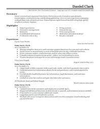 Sample Resume Of Data Entry Clerk Create My Resume Free Sample