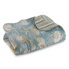 Buy Natural Shells Bedding from Bed Bath & Beyond & Natural Shells Reversible King Quilt in Blue/Beige Adamdwight.com