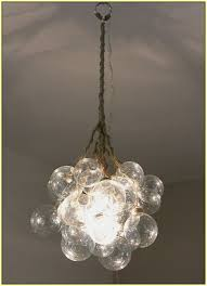 glass bubble chandelier diy home design ideas with regard to remodel 9