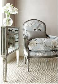 french chair upholstery ideas. love the chair! french bleu fabric chair mirror furniture gray silver home decorating ideas decor schumacher renovating living rooms furnishings upholstery