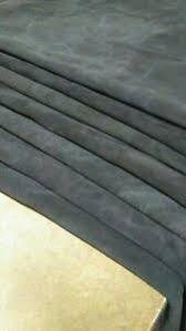 Italian Top Quality Calf Suede Leather Skin Calf Hide Black