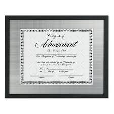white certificate frame contemporary wood document certificate frame silver metal mat
