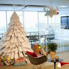 decorate office for christmas. Large Paper Tree Even Without Toys Will Be An Original Office Decoration Decorate For Christmas