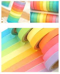 Best Masking Tape For Decorating ANGOO Rainbow Masking Tape Set Washi Tape Paper Tape 100 39
