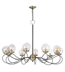 maxim 20467tbgtbzsbr reverb 10 light 38 inch textured bronze satin brass chandelier ceiling light