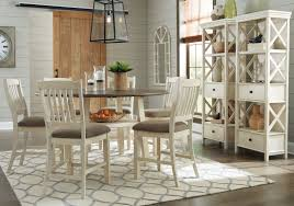counter height dining table set. Bolanburg Two-tone Round Counter Height Dining Room Set Table