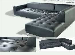 contemporary black leather sectional sofa details about 2 gorgeous modern genuine set