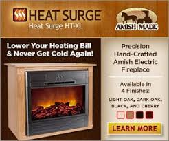 Amish Electric Fireplace  Amish Fireplaces Furniture In Solid Amish Electric Fireplace
