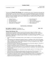 Sales Manager Resume Objective Professional Summary Examples For