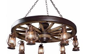 the history of wagon wheel chandeliers