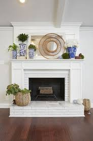 Painting Stone Fireplace Ideas Fireplace Makeovers On A Budget Cover Up  Fireplace Opening Reface Brick Fireplace