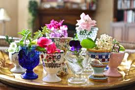 Decorating With Teacups And Saucers Decorating With Teacups Springtime Floral Centerpiece What 1