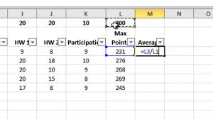 Excel Gradebook For Teacher Who Grades By Points Youtube