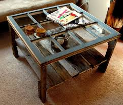 diy furniture old window pallet coffee table we d probably put a thick piece of glass