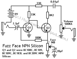 Phaser Pedal arbiter fuzz face npn (silicon)
