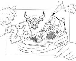 Small Picture Jordan Shoe Coloring Sheet Triston Pinterest