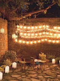 Outdoor patio fairy lights