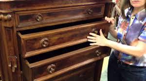 Hidden Drawer Lock Antique Furniture Renaissance Revival Drawer Chest With Rare Side