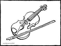 Instrumenten Kleurprenten Kiddicolour