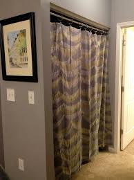 Full Size of Curtains: Beautiful Design Replace Sliding Closet Doors With  Curtains How To Savae ...