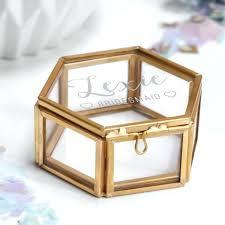 gold glass jewelry box whole personalised bridesmaid mini hexagon jewellery maria 2