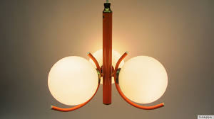 Détails Sur Richard Vinaigre Lustre Plafonnier Lampe Boule Lampe Vintage Retro Orange 70er J Afficher Le Titre Dorigine