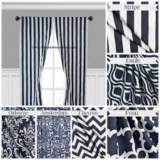 Navy And White Curtains Curtain Embroidered Mosaic Navy Blue Curtain Throughout Navy