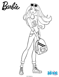 Small Picture Barbie with her school backpack coloring pages Hellokidscom