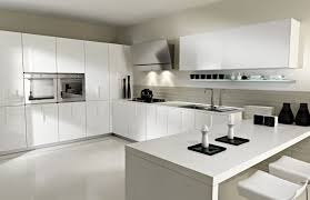 contemporary kitchen cabinets white