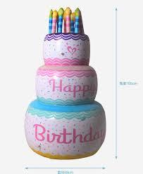New Pvc Original Inflatable Big Birthday Cake Large Artificial Cakes