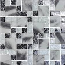 crystal glass tile backsplash kitchen le glass mosaic tile grey p938 jpg